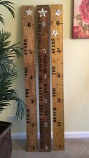 CHILDS NURSER/ BEDROOM, WOODEN MEASURING RULER GROWTH CHART CAN BE PERSONALISED