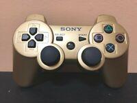 Genuine OEM CECHZC2U Sony Playstation 3 PS3 Sixaxis DualShock 3 Controller-GOLD