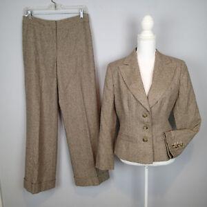ann taylor 2PC,BLAZER,SUIT,Jacket SZ 8p/12p pants wool blend i1