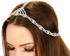 Kristin Perry 1920's Great Gatsby Inspired Art Deco Crystal Chain Headpiece