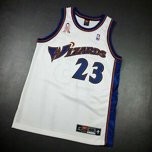 100% Authentic Michael Jordan Nike Wizards Jersey Size 44 L Mens 911 Patch