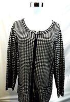 Coldwater Creek Womens Size 14 Blazer Tan Black Full Zip Career Work Jacket