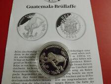 *Belize 10 Dollars 1995 Silber PP *WWF* Brüllaffe (Schub117)