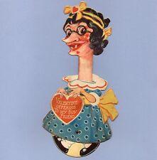 Vintage Valentine Card Valentine'S Day Insult Vinegar Mechanical My Boy Friend