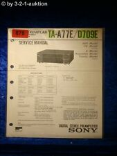 Sony Service Manual TA A77E / D709E Amplifier  (#0878)