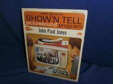 Vintage Ge Show'N Tell John Paul Jones Picturesound Program 1964