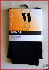 BONDS FOOTLESS TIGHTS Black Ankle Length 7 - 10 yrs