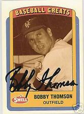 BOBBY THOMSON NEW YORK GIANTS 1990 SWELL  AUTO BASEBALL CARD PSA/DNA
