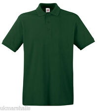 Fruit of the Loom Premium 100% Cotton Polo T Shirt Golf Casual Uniform 63218