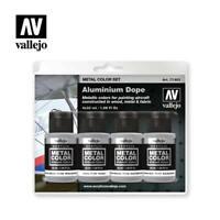 Vallejo Metal Colour Aluminium Dope Engine Jet Metal 32 ml Acrylic Paint 4pc SET