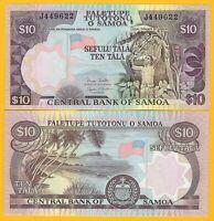 Samoa 10 Tala p-34b 2005 UNC Banknote
