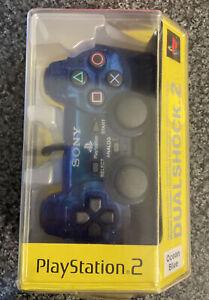 Ps2 Ocean Blue Edition Dualshock 2 Controler Boxed Rare