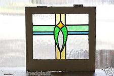 Antique Stained Glass Window Four color Art Nouveau Tulip                 (2802)