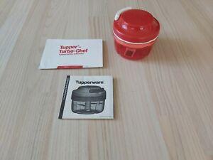 Tupperware Turbo Chef Speedy Boy Zwiebelschneider Zerkleinerer Mixer 300 ml rot