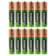 12x DURACELL AA HR06 2450 mAh Capacité Duralock NiMh AA Rechargeable Batteries