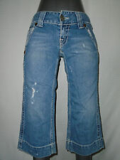 TRUE RELIGION SAMMY BIG T WOMANS  CROPPED JEANS SIZE 28