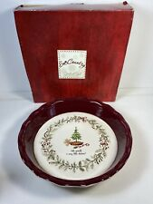 "Grasslands Road ""Bake Yourself A Merry Little Christmas"" Pie Plate Dish 10"""