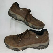 Merrell Size 11 Moab Adventure Lace Brown Leather Low Hiker Select Dry J91825