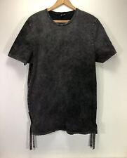 ASOS Gothic Faded Black Distressed Long T-Shirt XL