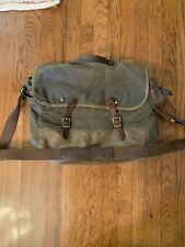 J Crew Abingdon canvas and leather messenger bag
