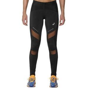 Asics Women's Running Tights Leg Balance Muscle Support Tights -Black/Peach -New