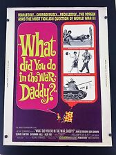 Original 1966 What did you do in the war, daddy? 30 x 40 Theatre Movie Poster