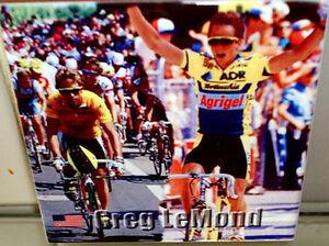 Greg LeMond ~ winner of Tour de France for 3 times~  CERAMIC TILE