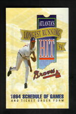 Greg Maddux--1994 Atlanta Braves Pocket Schedule--Lykes