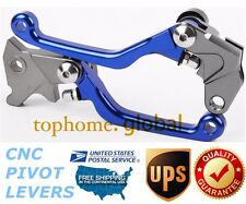 For Yamaha TRICKER 2004-2015 Clutch Brake Levers CNC Pivot Blue US 11 12 13 14