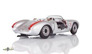 Porsche 550 Spyder #37 Polenski from The Frankenberg Le Mans 1955 Silver 1:18