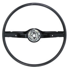 "New 1968-69 Mustang Steering Wheel 2-Spoke 16"" Fairlane 68-70 Falcon Black Ford"