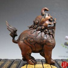 Chinese Brass Carving Decoration Unicorn Incense burner Home decorations