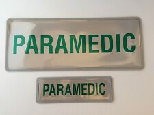 Encapsulated reflective 250mm badge set PARAMEDIC front back slide in style