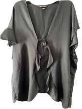 VICTORIA'S SECRET BLACK SHORT SILKY ROBE,,ONE SIZE FITS ALL