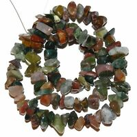 """NG2185f Multi-Color Fancy Jasper Small (7-10mm) Natural Gemstone Chip Beads 16"""""""