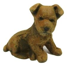"4"" Tall Little Rustic Cast Iron Terrier Lab Mutt Puppy Dog Paperweight Figurine"