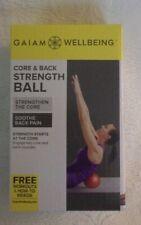 Gaiam Wellbeing Core & Back Strength Ball New NIB