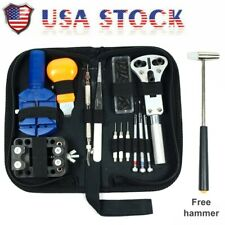 Spring Bar Free Hammer w/ Carry Case Watch Repair Tool Kit Opener Link Remover