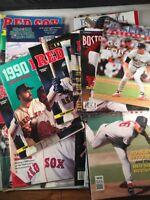 Boston Red Sox Baseball Fenway Scorebook Programs Vintage 1980s 1990s Lot of 19