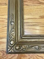 "American 1910 Arts And Crafts Carved Gilded Picture Frame  39"" By 28"""
