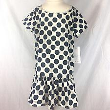 NWT ELLA MOSS Black Polka Dot Party Dress Girls Size 12
