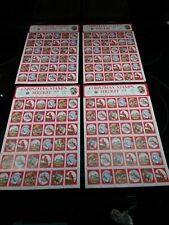 5 Sheets Of Vintage 1974-1977 National Wildlife Federation Christmas Stamps