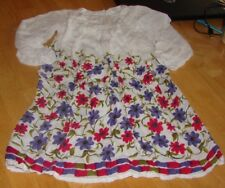 YO BABY LITTLE GIRLS SIZE 6 GORGEOUS WHITE FLORAL PEASANT STYLE DRESS
