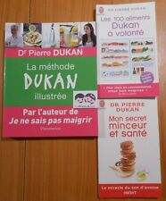 LOT de 3 LIVRES DR PIERRE DUKAN LA METHODE ILLUSTREE + 100 ALIMENTS A VOLONTE