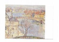 AK, Künstlerkarte von Berta Martin, Kassel, Rondell, Fuldabrücke, Stadtmuseum K