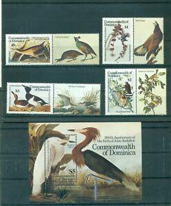 Dominica - Sc# 891-5. 1985 Birds, Audubon. MNH $16.25.