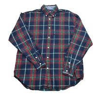 Vintage 90s Nautica Button Up Dress Shirt Mens Large Plaid Causal Long Sleeves