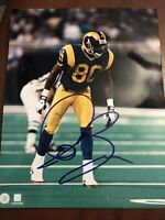 Isaac Bruce Signed St. Louis Rams 8x10 Photo Autographed Hall Of Fame