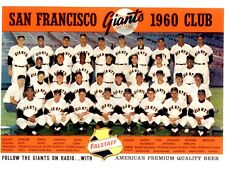 1960 SAN FRANCISCO GIANTS 8X10 TEAM PHOTO BASEBALL PICTURE MLB