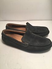 Clarks Blue Nubuck Driving Slip On Loafers Moc Toe Shoes 68670 Men's 11